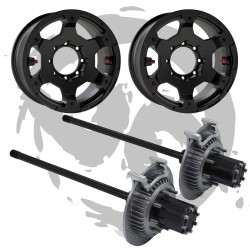 Conversione Full Float anteriore Jeep Wrangler JK Rubicon